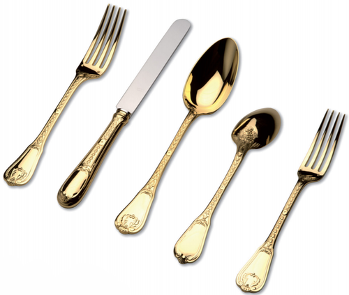 Bourbon Cutlery Collection in Vermeil
