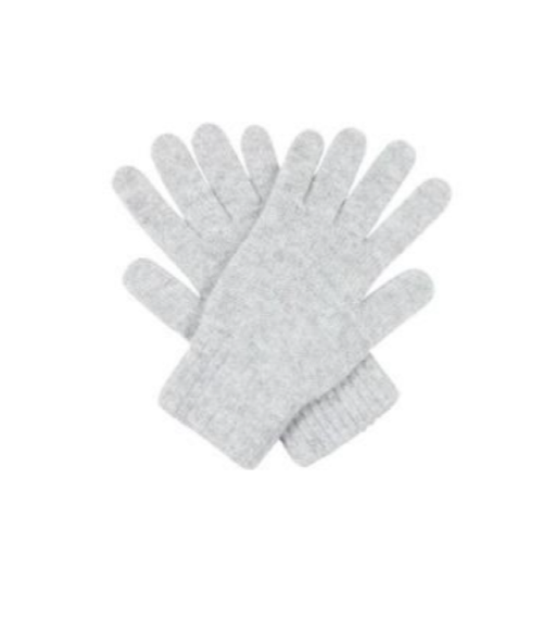 Three-Ply Cashmere Plain Gloves in Haar