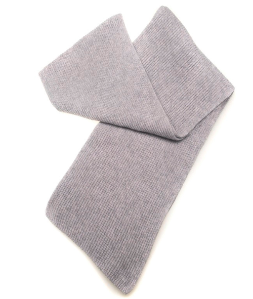 Three-Ply Cashmere Scarf in Flannel