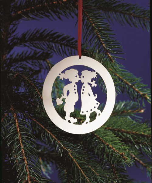 Children Kissing Ornament