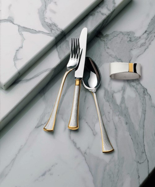 Avenue Cutlery Collection in Vermeil (Partial)