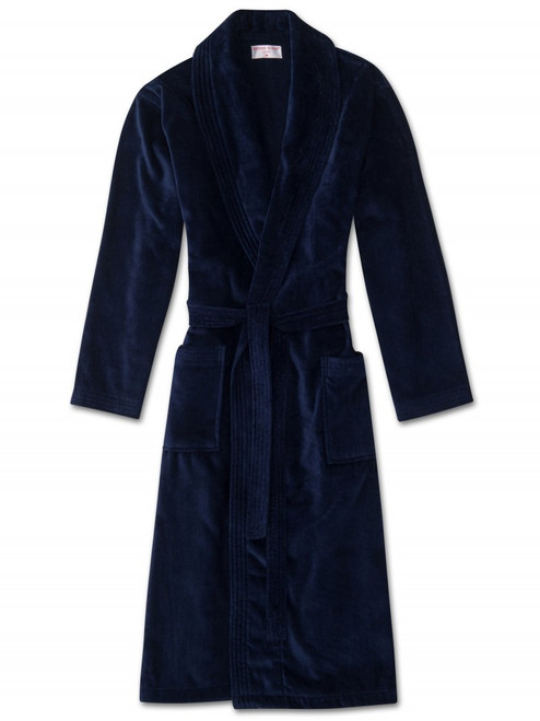 Cotton Velour Towelling Gown