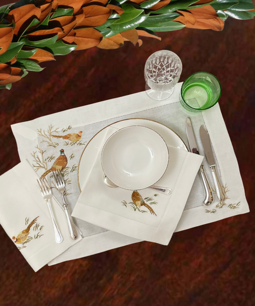 Pheasant Collection in White