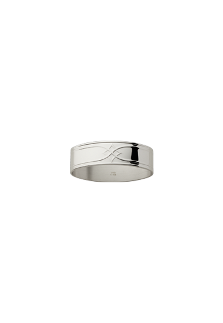 Arcade Knapkin Ring in Silverplate