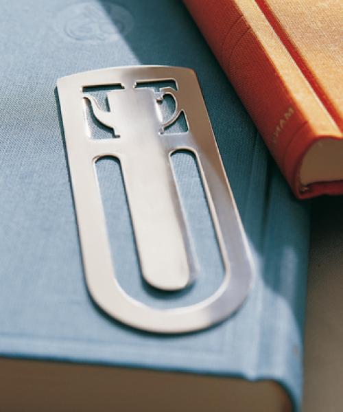 Mocha Pot Bookmark in Sterling