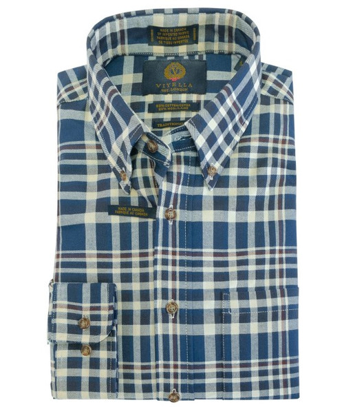 Viyella Large Plaid in Blue