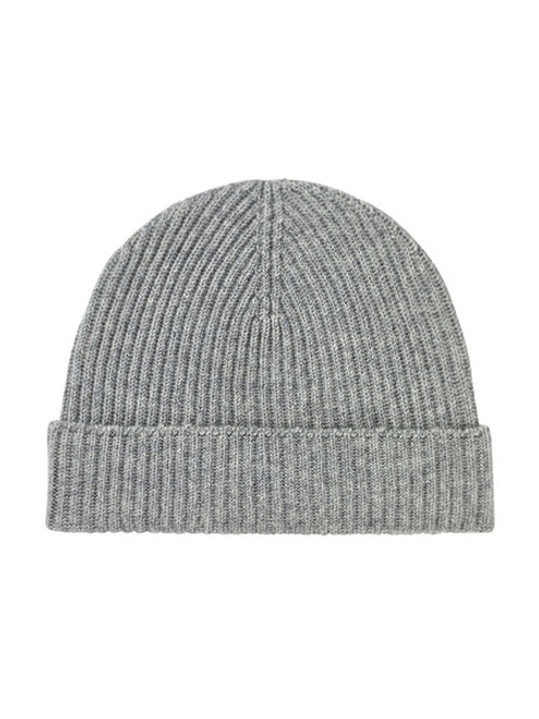 Johnstons Cashmere Ribbed Hat in Silver