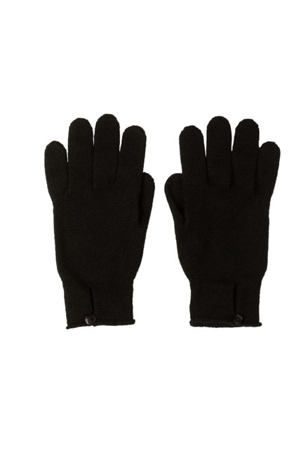 Johnstons Cashmere Women's Button Loop Gloves in Black