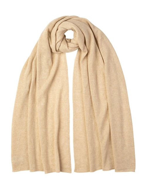 Cashmere Gauzy Stole in Natural