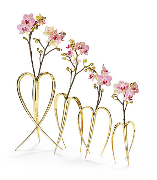 """Heart Vase"" Collection by Ted Muehling (Gold Finish)"
