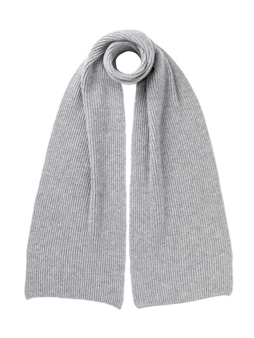 Johnstons Cashmere Ribbed Scarf in Silver