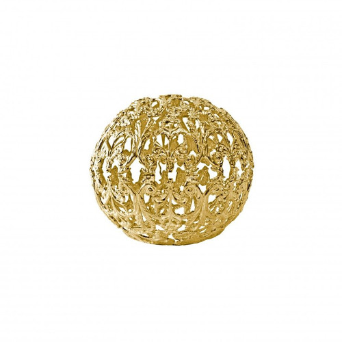 Floral Spherical Box (Gold Flash Finish)