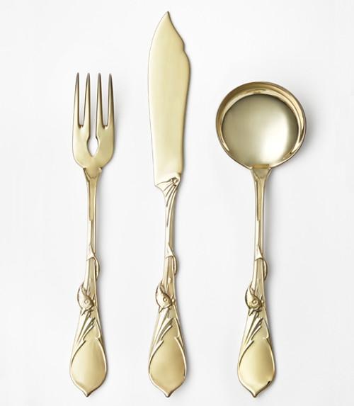 """Au Bord de la Mer"" Cutlery Collection (Gold Plate)"