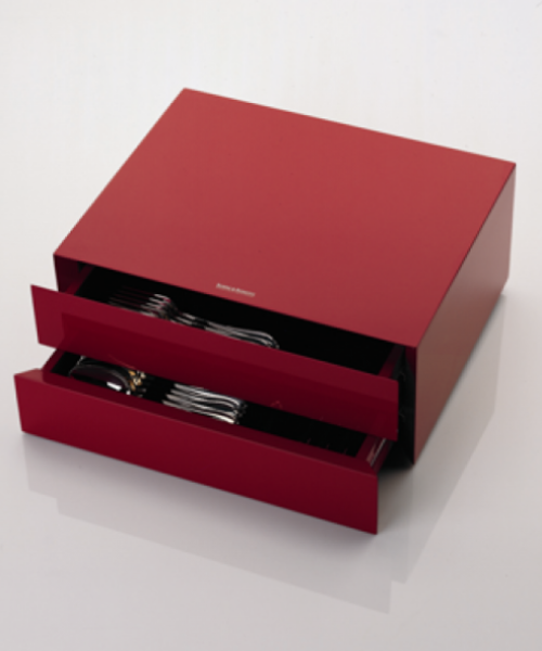 Red Lacquered Storage Chest (Robbe & Berking)
