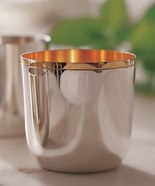 Alta Tumbler Collection in Silverplate (Gold Interior)