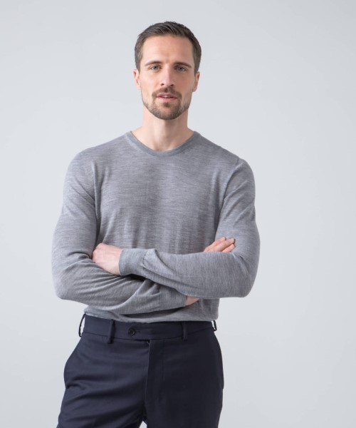 Johnstons Superfine Merino Crewneck Sweater