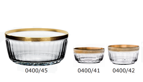 """Otto"" Crystal Bowl Collection (Gold)"