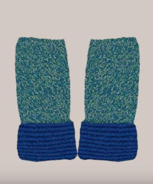 Baby Alpaca Melange Gloves in Spa/Blue