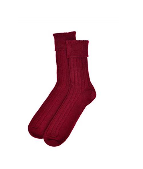 Men's Cashmere Socks in Cardinal