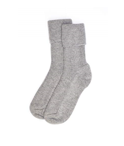 Womens Cashmere Socks in Flannel