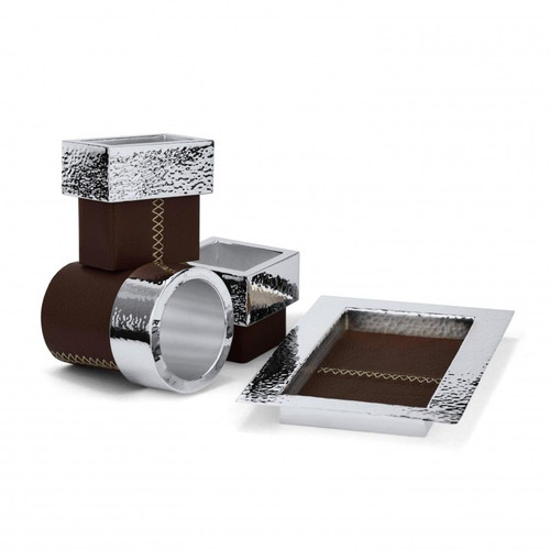 Leather and Silver Office Set