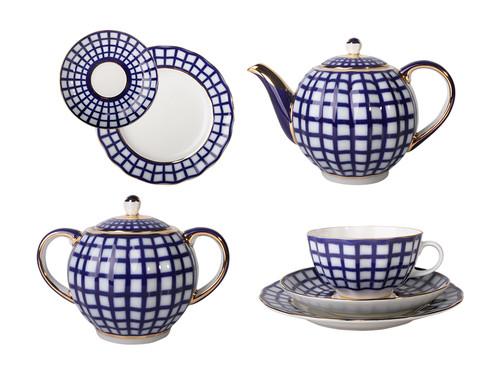Tea Set in Tulip Shape with Quattro Motif