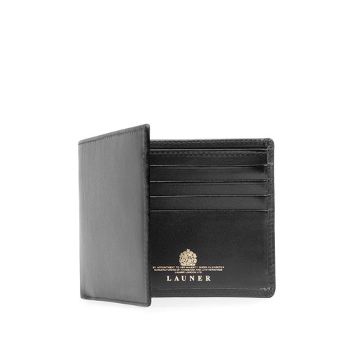 Launer Eight Credit Card Wallet, Black/Black