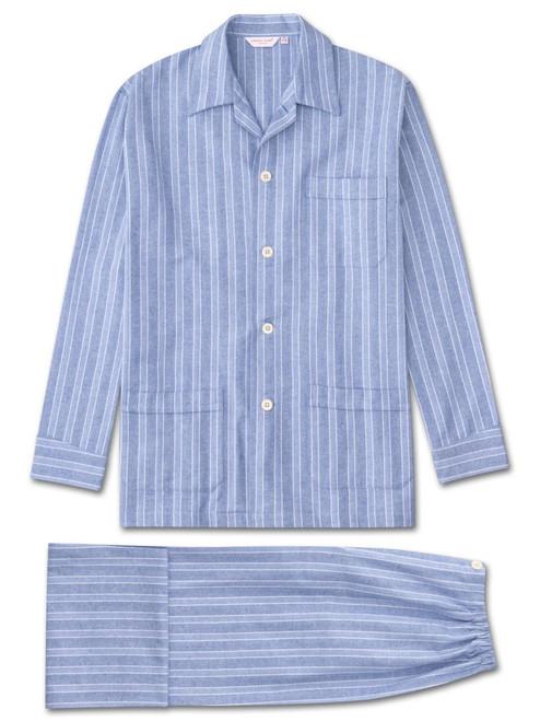 Brushed Cotton Herringbone Stripe Pyjamas