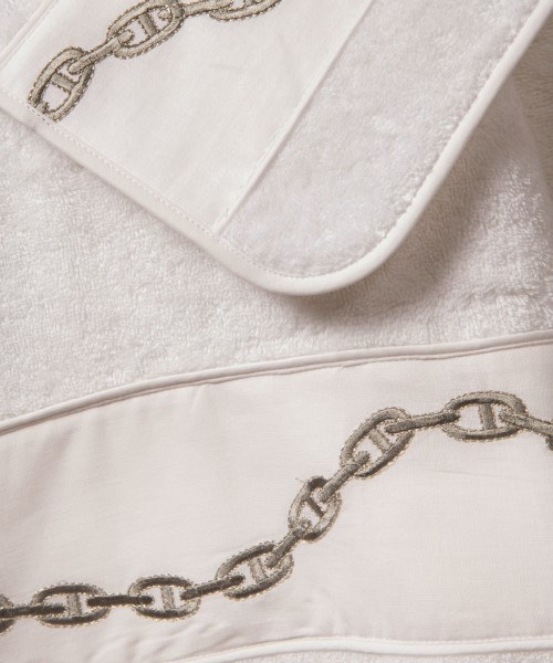 Hand Embroidered Chain Towel Collection