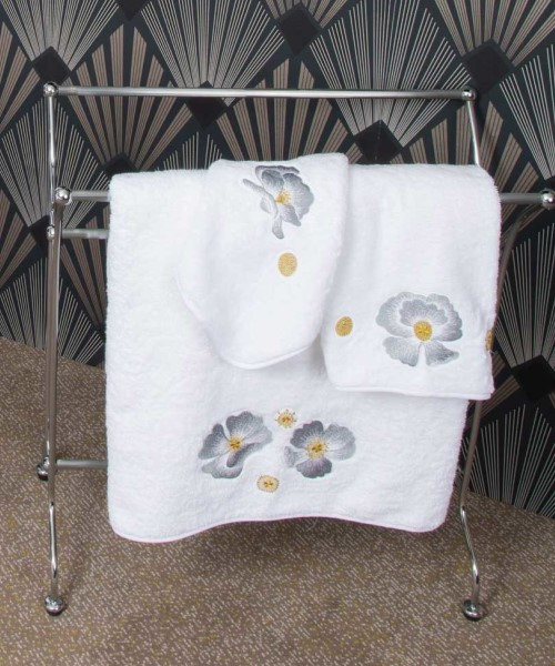 Hand Embroidered Corolla Towel Collection