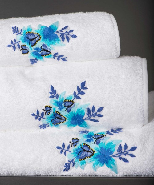 Hand Embroidered Garden of Eden Towel Collection