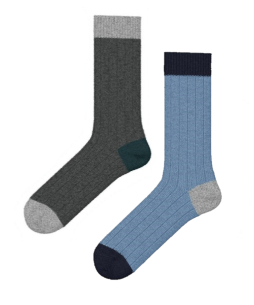 Johnstons Men's Cashmere Special Two Pair Collection Bed Sock