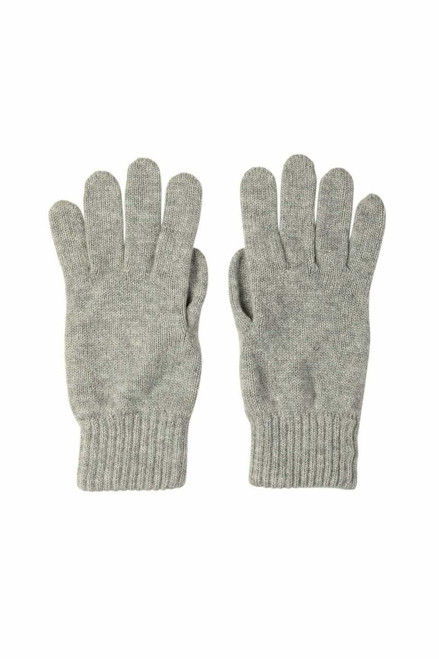 Johnstons Men's Jersey-Knit Cashmere Gloves in Silver
