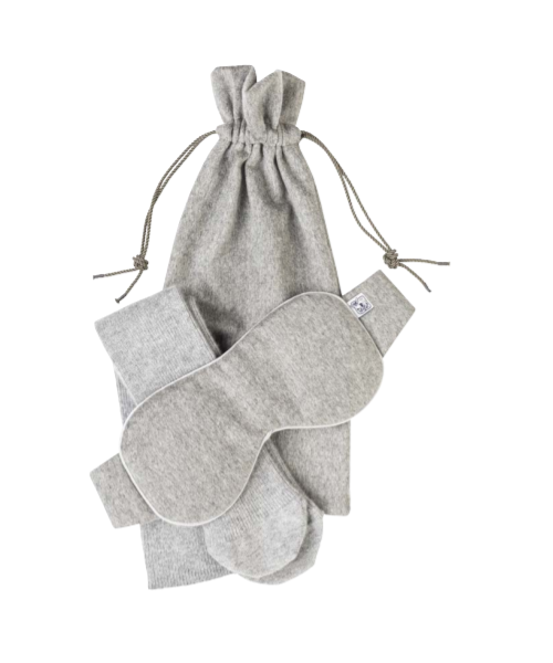 Johnstons Cashmere Travel Set in Silver
