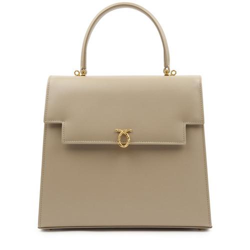 Juliet Handbag, Bone/Chocolate