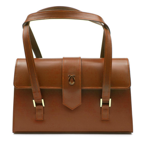 Aida Handbag, Tan/Brown