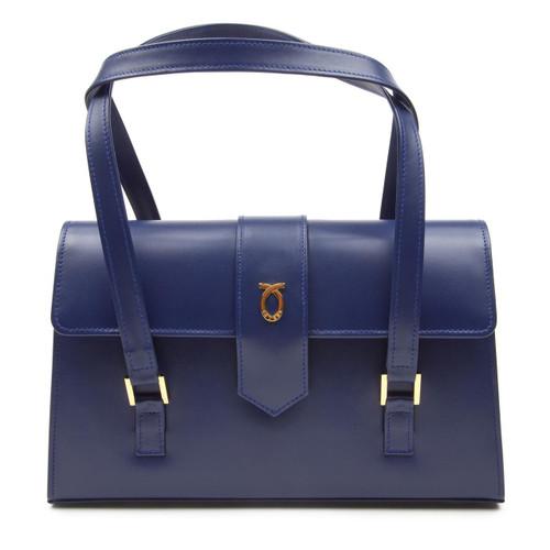 Aida Handbag, Ultra Marine/Black
