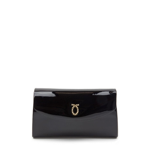 Grace Handbag, Patent Black/Black