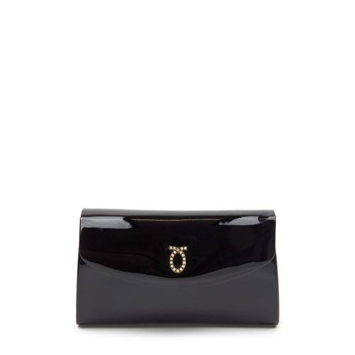 Grace Handbag, Patent Black/Black