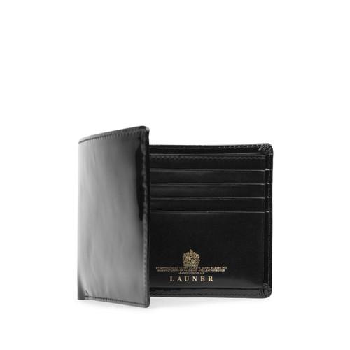 Launer Eight Credit Card Wallet, Black Patent/Black