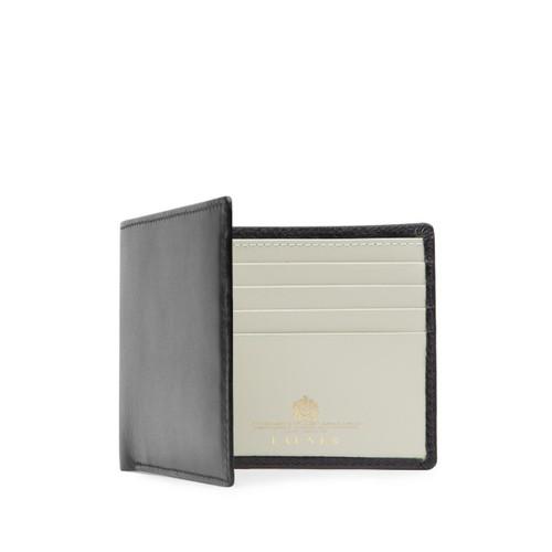 Launer Eight Credit Card Wallet, Black/Bone