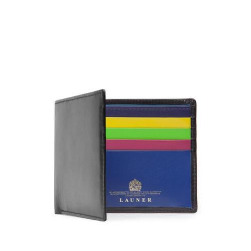 Launer Eight Credit Card Wallet, Black/Multi