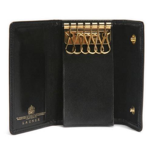Launer Key Wallet, Black/Black