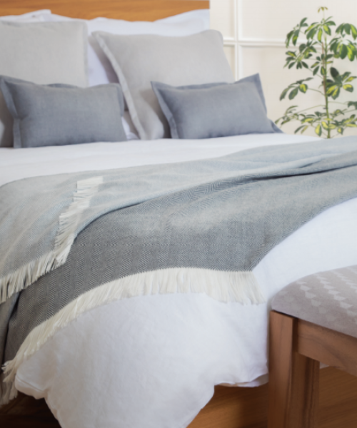 Johnstons Herringbone Bed Throw