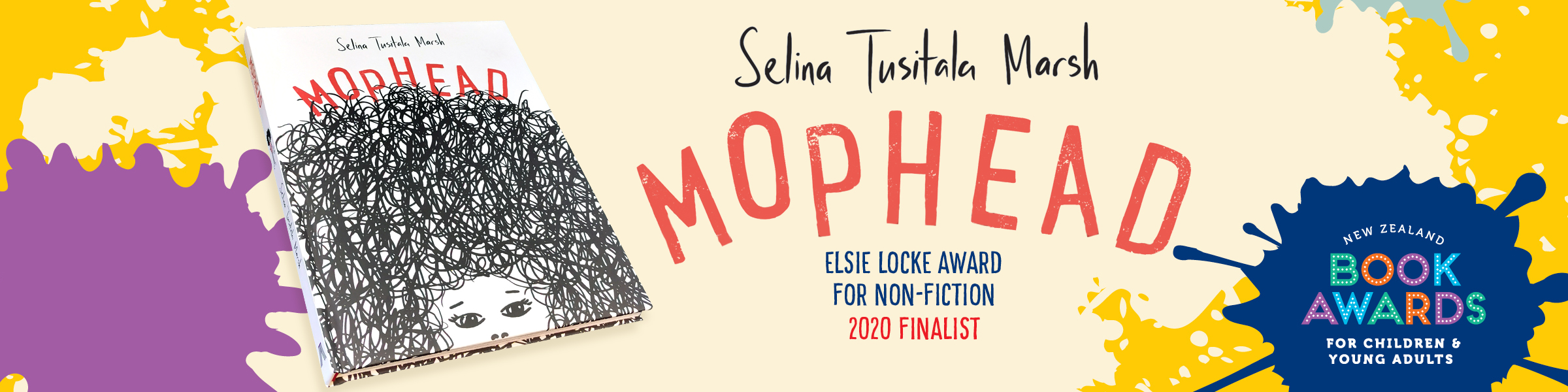 SELINA TUSITALA MARSH'S MOPHEAD A FINALIST IN 2020 NEW ZEALAND BOOK AWARDS FOR CHILDREN AND YOUNG ADULTS