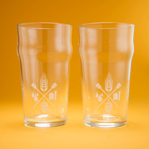 Craft Beer & Brewing 16 Oz. Nonic Pint Glasses - 2 Pack