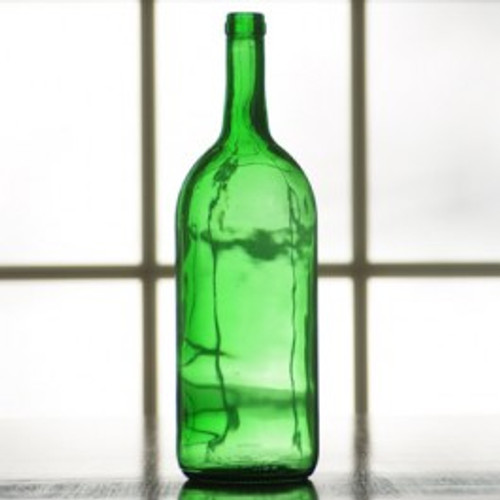 1.5L Emerald Green Bordeaux Bottles - Case of 6