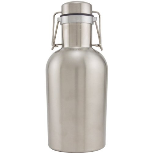Stainless Steel Fliptop Growler - 1 Liter