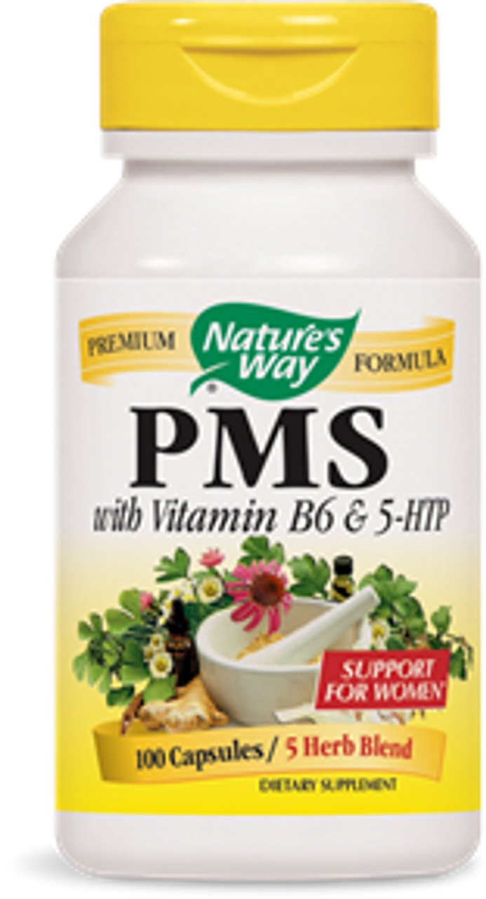 PMS with Vitamin B6 & 5-HTP, 100 capsules, by Nature's Way