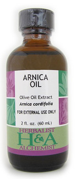 Arnica Oil 2 oz. by Herbalist & Alchemist